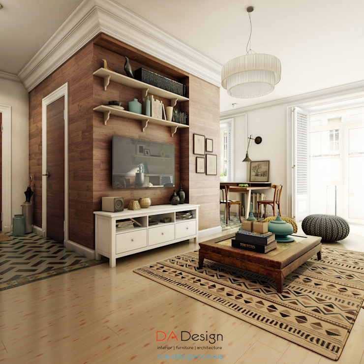 Colonial style living room by DA-Design Colonial