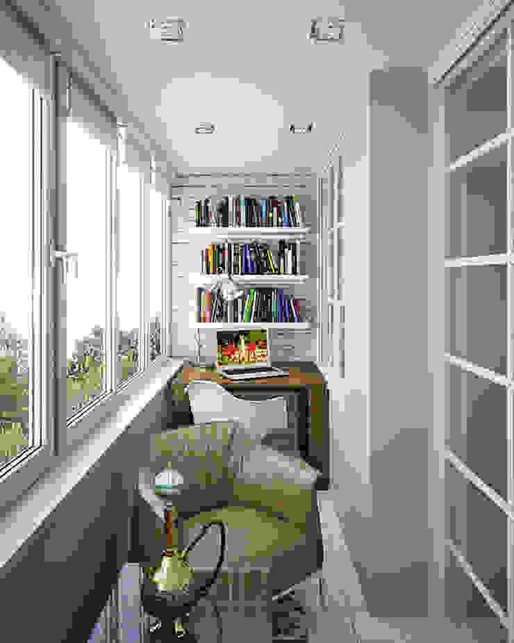 Балкон Балконы и веранды в эклектичном стиле от meandr.pro Эклектичный