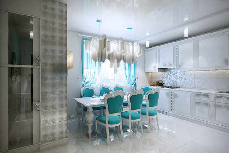 кухня Столовая комната в классическом стиле от meandr.pro Классический