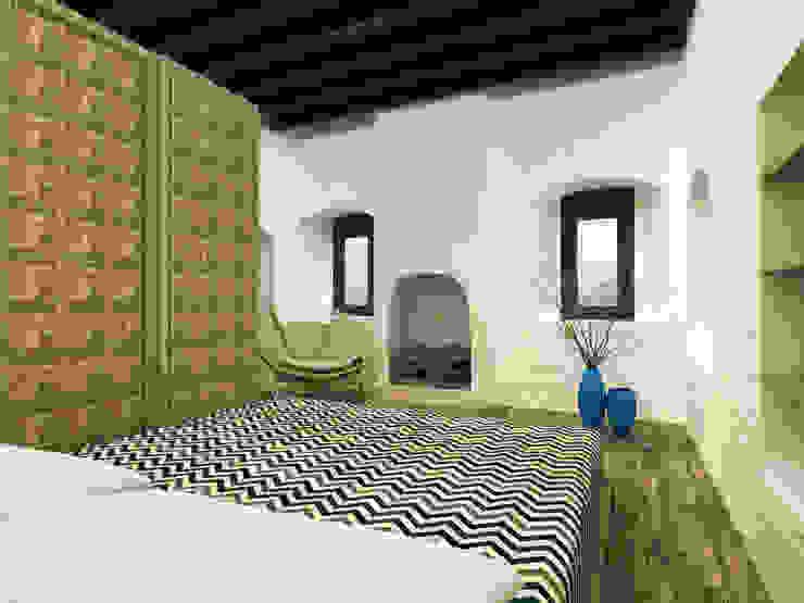 Restorated House 2 Bedroom Akdeniz Yatak Odası Atelye 70 Planners & Architects Akdeniz