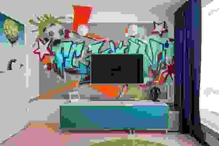 Jungenzimmer mit Graffiti (4) Moderne Kinderzimmer von Alexandra Flohs interior design Modern