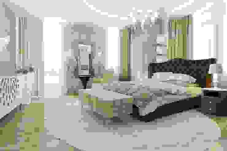 Спальня с кабинетом Спальня в стиле модерн от pashchak design Модерн
