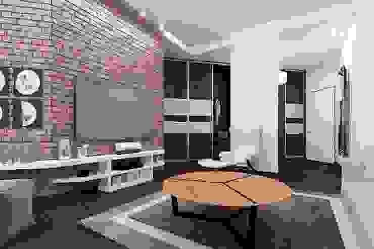 кирпичек Гостиная в стиле лофт от pashchak design Лофт