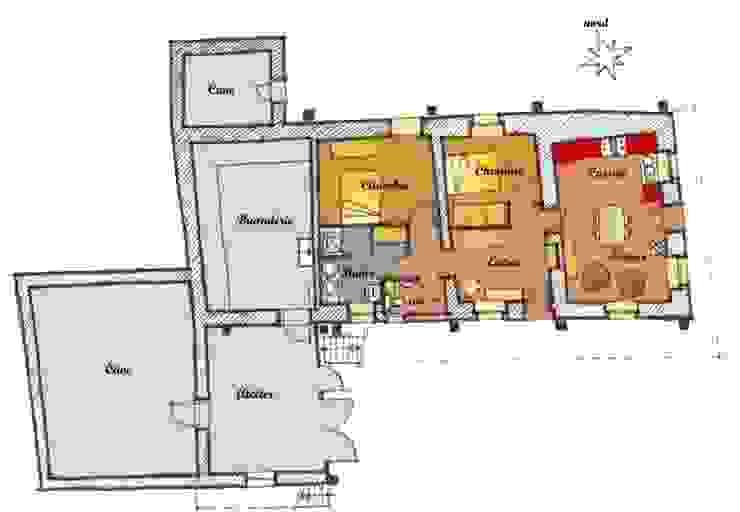 Plan des aménagements intérieurs Marie GAMELON-VIALLET architecte