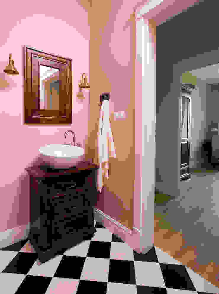 Pastelowy Wilanów Eklektyczna łazienka od Pracownia Projektowa Poco Design Eklektyczny