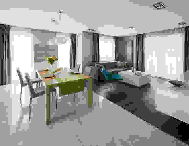 Kolorowy minimalizm Pracownia Projektowa Poco Design Minimalistyczny salon
