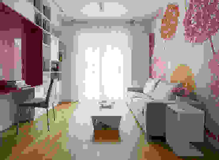 Kolorowy minimalizm Pracownia Projektowa Poco Design Minimalistyczne domowe biuro i gabinet
