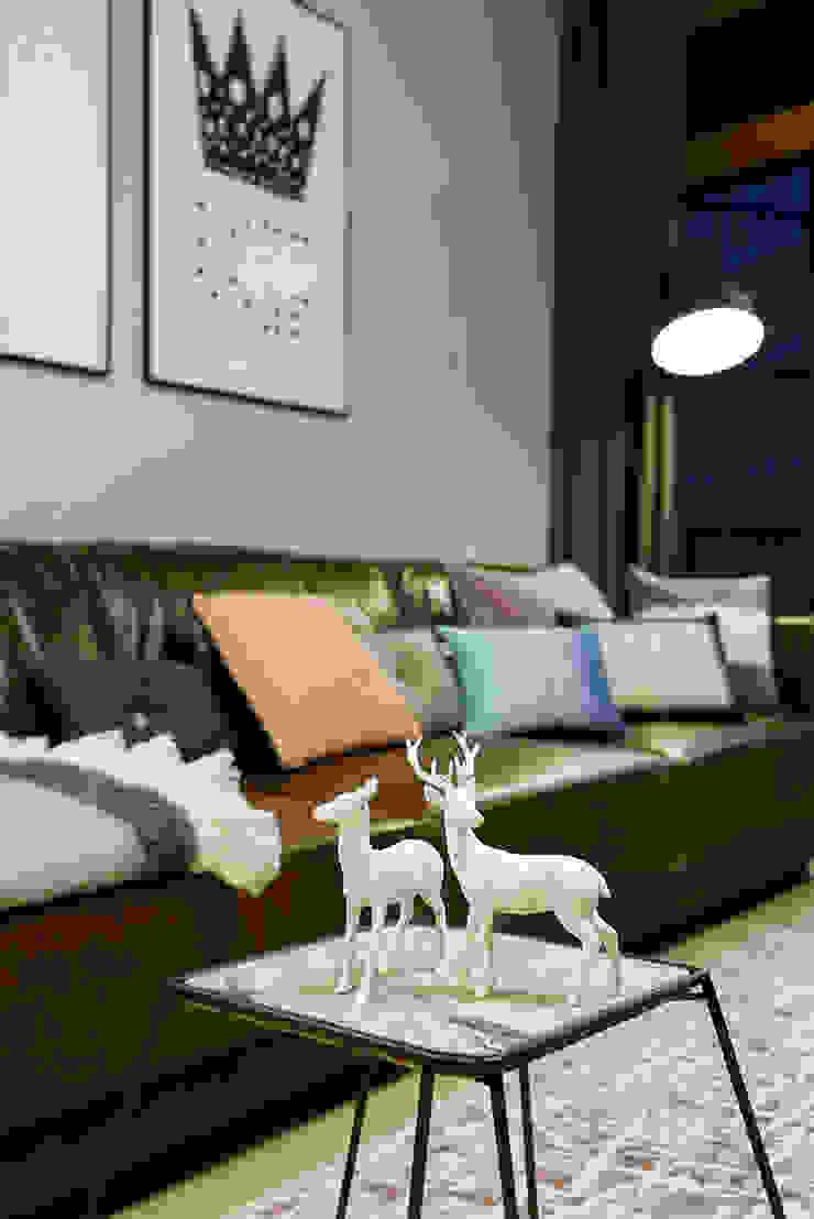 Ażur w Pastelach Eklektyczny salon od Pracownia Projektowa Poco Design Eklektyczny