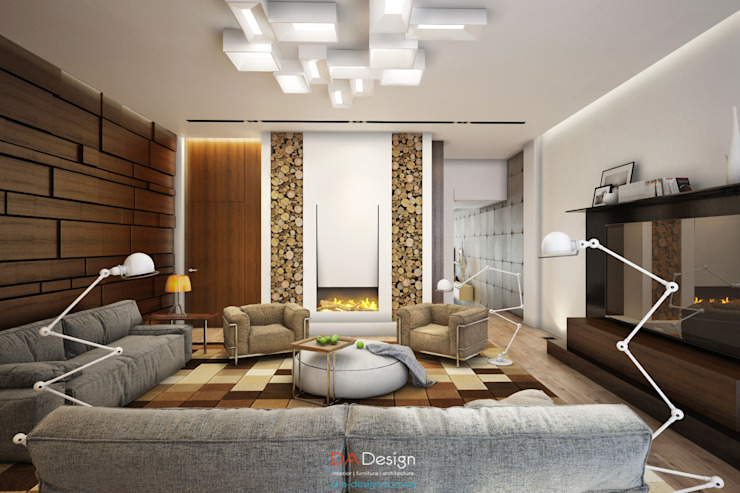 DA-Design Salas de estilo minimalista