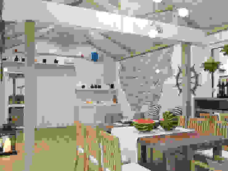 рыбацкий домик Балконы и веранды в эклектичном стиле от pashchak design Эклектичный