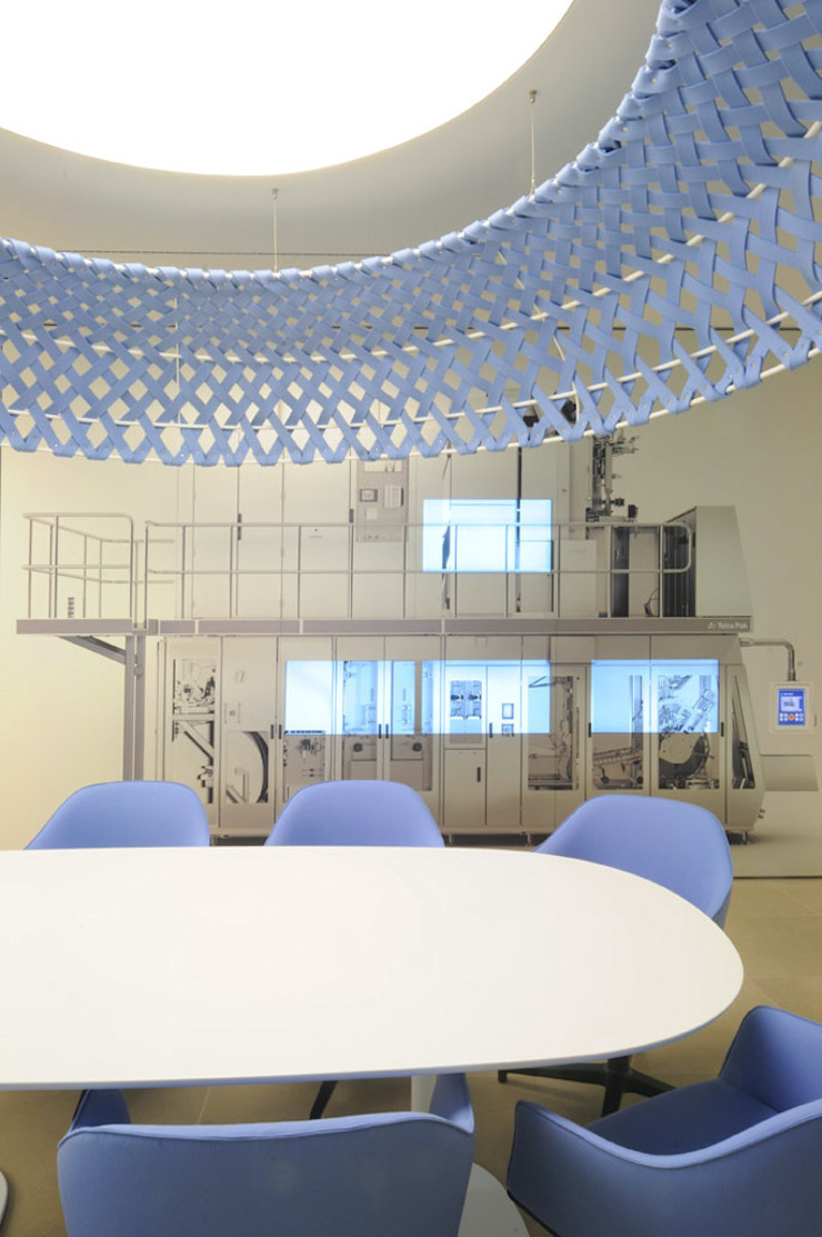 Tetra Pak Product Discovery Room Complesso d'uffici moderni di ZPZ PARTNERS Moderno
