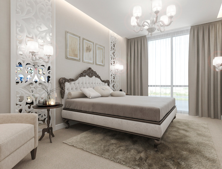Eclectic style bedroom by pashchak design Eclectic