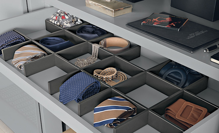Bespoke tie drawer: minimalist  by Lamco Design LTD, Minimalist