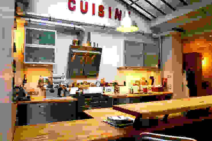 Loft Paris Cuisine industrielle par Cabinet Dario Industriel
