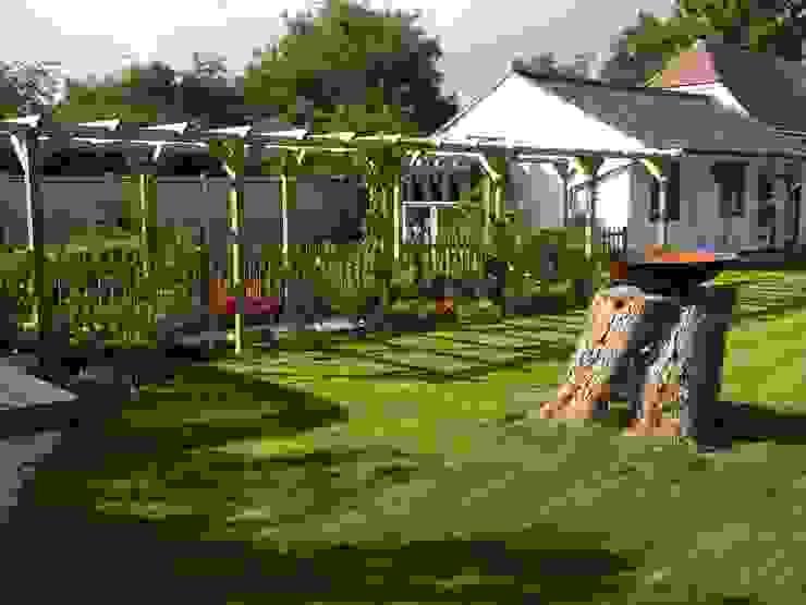New lawn around tree stump by Westacott Gardens