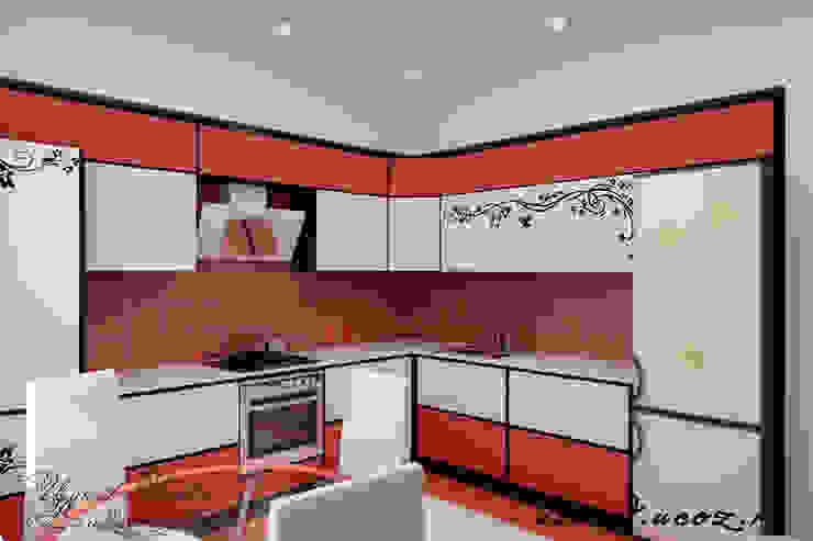 Дизайн проект частного дома в стиле авангард. Кухня в стиле минимализм от Цунёв_Дизайн. Студия интерьерных решений. Минимализм