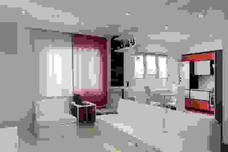 Дизайн проект частного дома в стиле авангард. Гостиная в стиле минимализм от Цунёв_Дизайн. Студия интерьерных решений. Минимализм