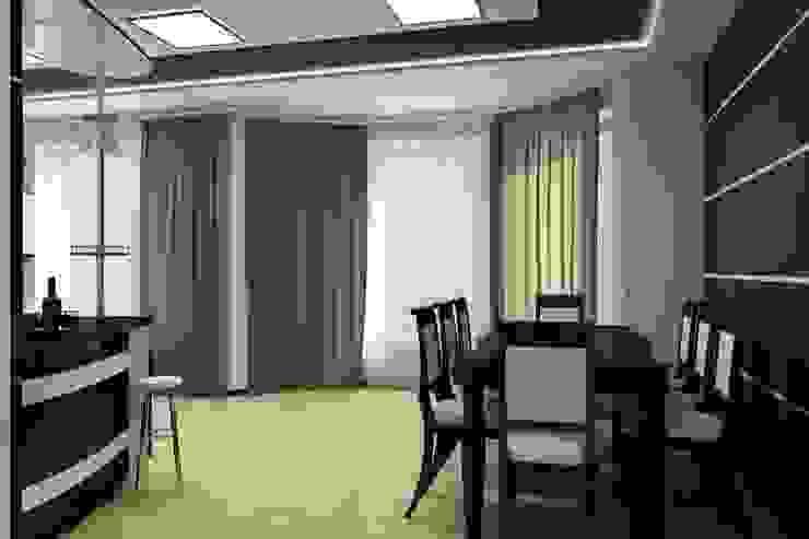 Частный дом в стиле минимализм. Кухня в стиле минимализм от Цунёв_Дизайн. Студия интерьерных решений. Минимализм