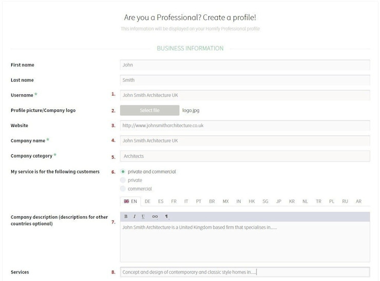 How do I create a professional profile on homify? by homify India