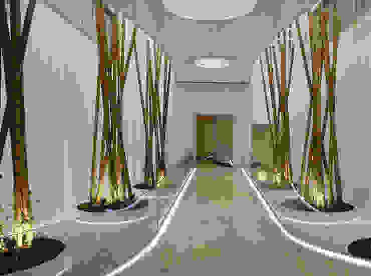 Paisajismo en oficinas – Diseño y decoración del acceso Edificios de oficinas de estilo moderno de La Habitación Verde Moderno