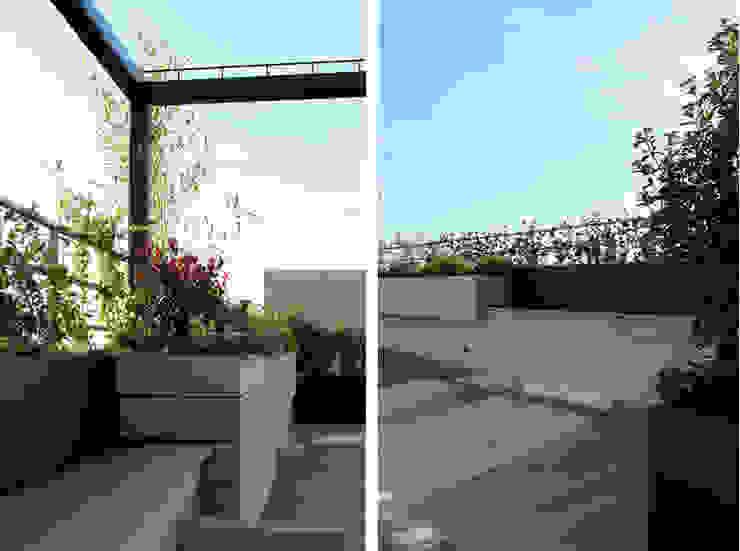 Terraza en Madrid con Pérgola de La Habitación Verde Rústico