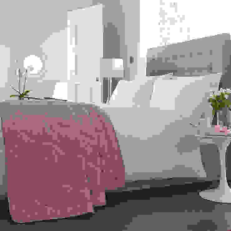 Charlotte Thomas Anastasia Bed Throw in Dark Pink: modern  by We Love Linen, Modern