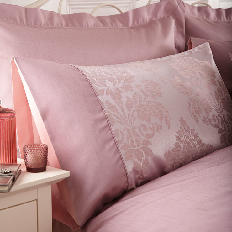 Charlotte Thomas Anastasia Housewife Pillowcases in Dark Pink: classic  by We Love Linen, Classic