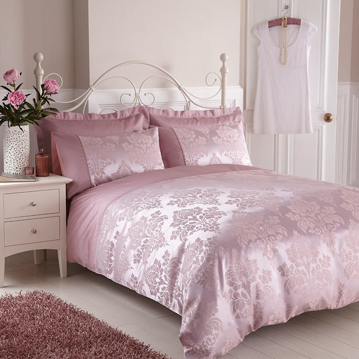 Charlotte Thomas Anastasia Duvet Cover in Dark Pink: classic  by We Love Linen, Classic