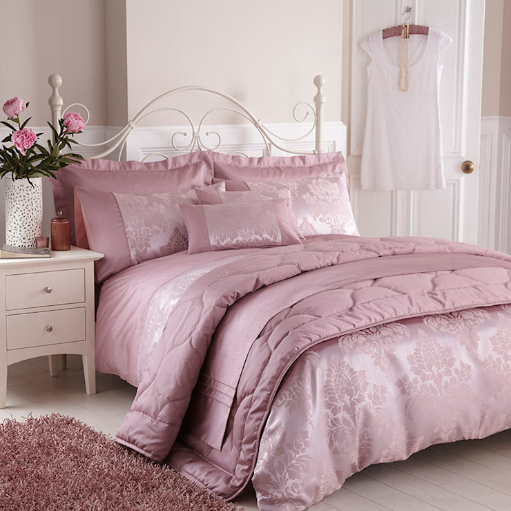 Charlotte Thomas Anastasia Jacquard Collection in Dark Pink: classic  by We Love Linen, Classic