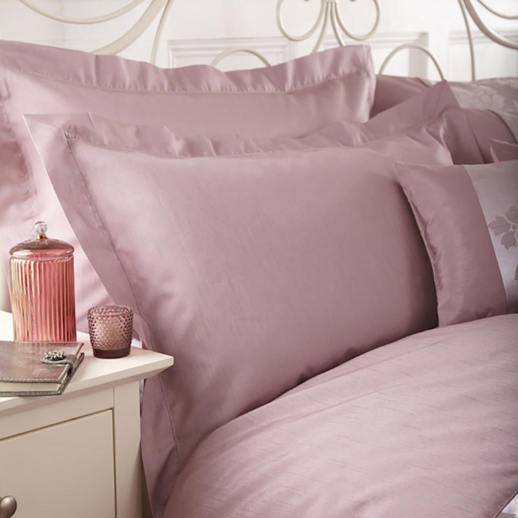 Charlotte Thomas Anastasia Oxford Pillowcase in Dark Pink: classic  by We Love Linen, Classic