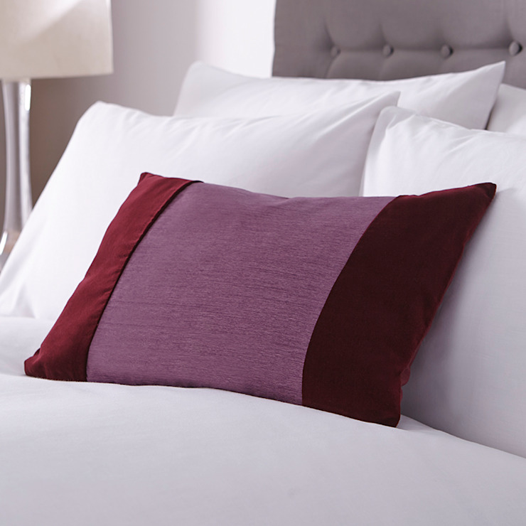 Charlotte Thomas Francesca Cushion Cover in Plum: classic  by We Love Linen, Classic
