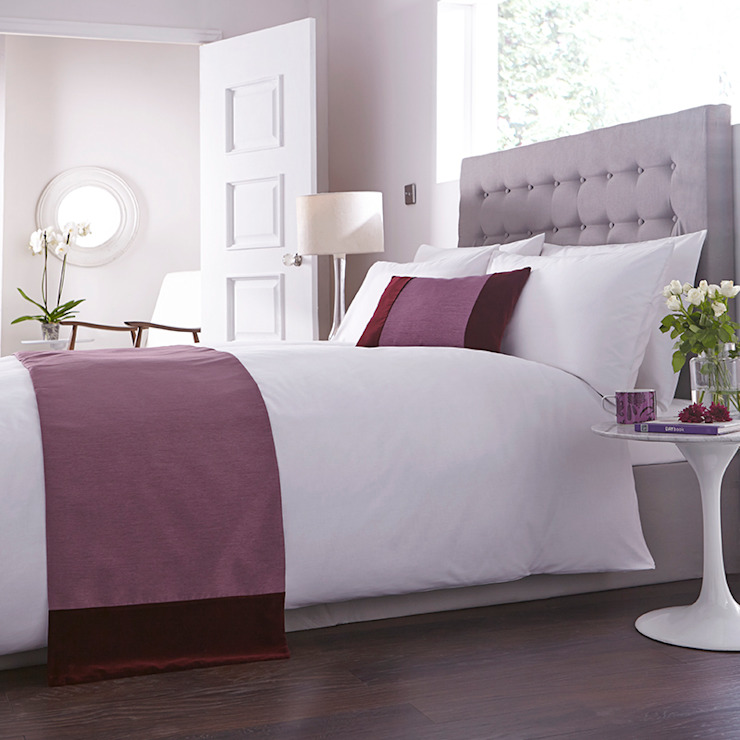 Charlotte Thomas Francesca Bed Runner in Plum: classic  by We Love Linen, Classic