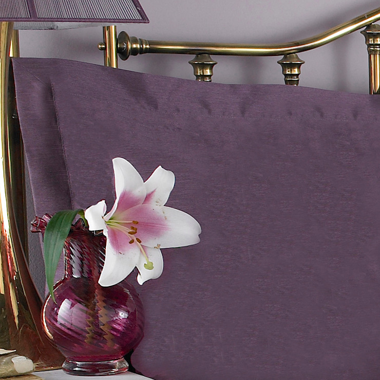 Charlotte Thomas Francesca Oxford Pillowcase in Plum: classic  by We Love Linen, Classic