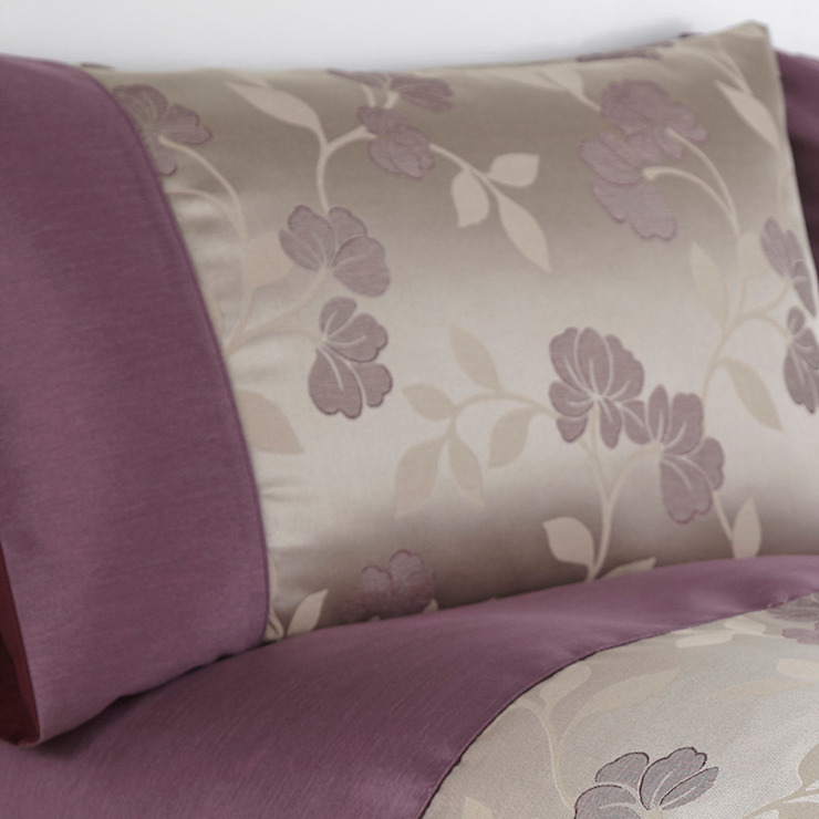 Charlotte Thomas Francesca Housewife Pillowcases in Plum: classic  by We Love Linen, Classic