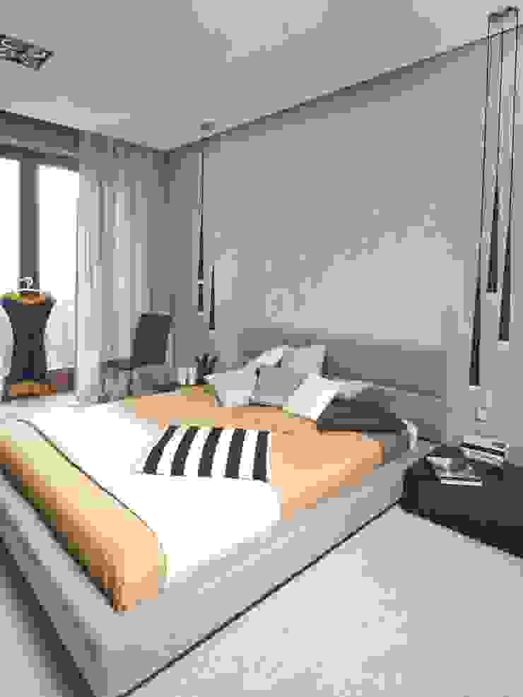 Apartament na Grzybowskiej_ Warszawa Nowoczesna sypialnia od I Home Studio Barbara Godawska Nowoczesny