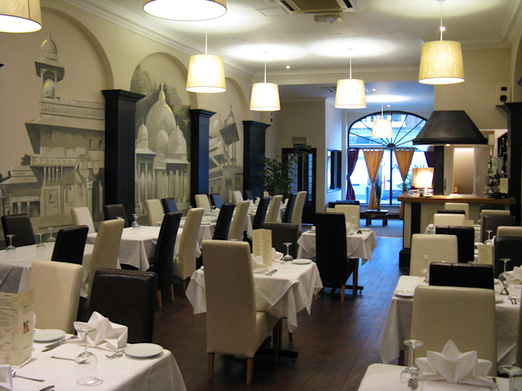 Karma Restaurant Asian style bars & clubs by Martin Hall Design Asian