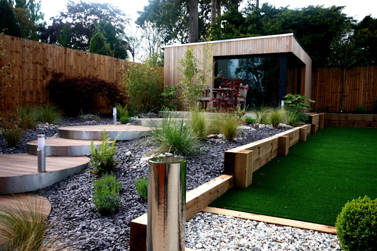 Landscaped family garden room space Modern garden by The Swift Organisation Ltd Modern