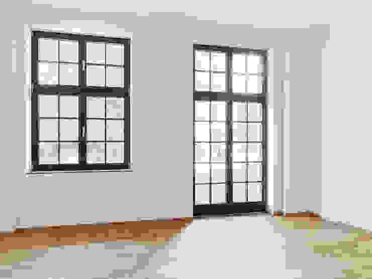 Sprossenfenster quartier vier Architekten Landschaftsarchitekten Industriale Arbeitszimmer