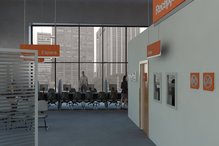 Modern offices & stores by Logi Arquitetura Modern