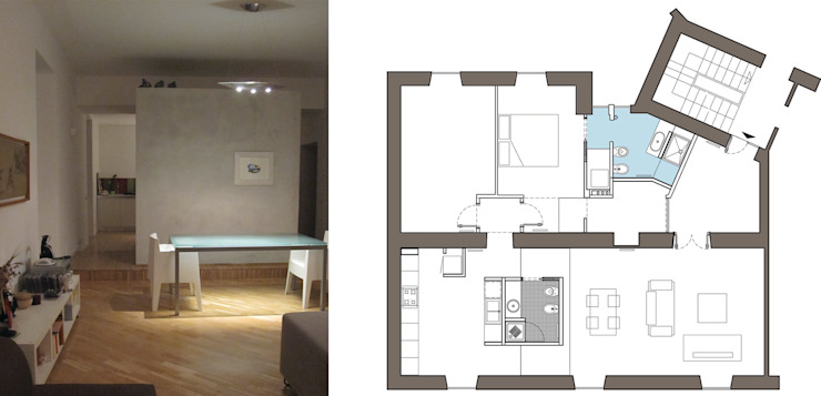 2bn architetti associati Modern Living Room