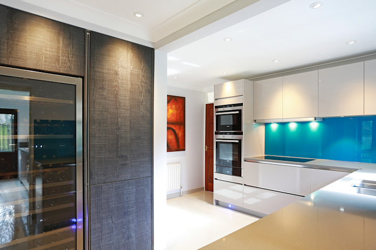 Contemporary kitchen extension LWK London Kitchens 現代廚房設計點子、靈感&圖片