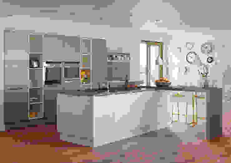 Roxbury Mussel and Basalt Grained Matt Kitchen: modern  by Sigma 3 Kitchens, Modern