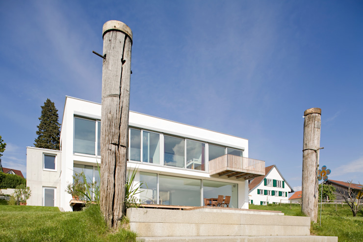Landesteg Moderner Garten von GMS Freie Architekten Isny / Friedrichshafen Modern