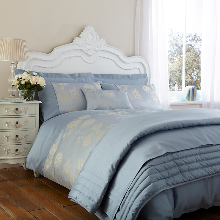"""Charlotte Thomas """"Antonia"""" Jacquard Collection in Duck Egg Blue: classic  by We Love Linen, Classic"""