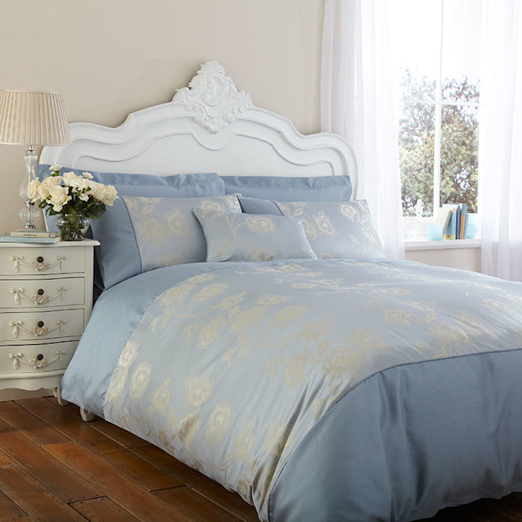 Charlotte Thomas Antonia Duvet Cover in Duck Egg Blue: classic  by We Love Linen, Classic