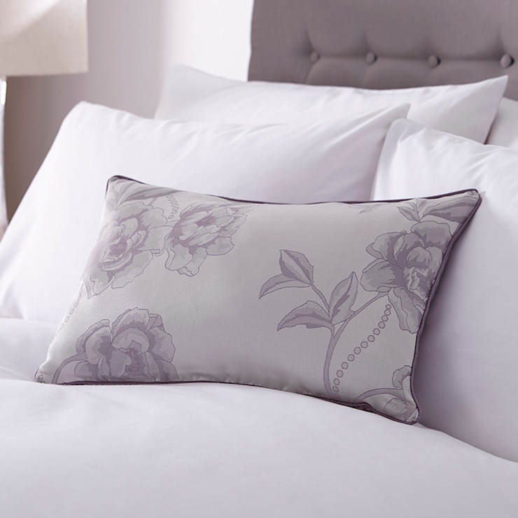 Charlotte Thomas Antonia Cushion Cover in Light Purple & Grey: classic  by We Love Linen, Classic