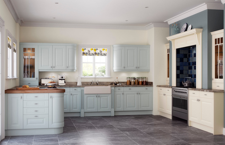 Clifton Powder Blue and Ivory Painted: country  by Sigma 3 Kitchens, Country
