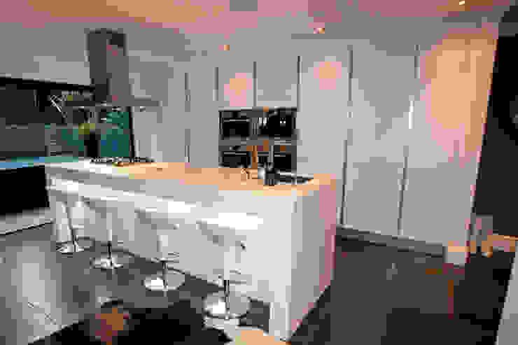 Minimalist kitchen extension LWK London Kitchens 廚房