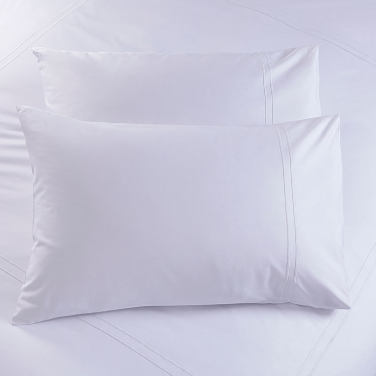 Charlotte Thomas Richmond Housewife Pillowcases in White: modern  by We Love Linen, Modern