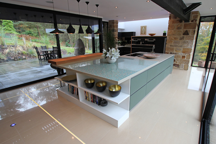 Luxury island kitchen home extension LWK London Kitchens 現代廚房設計點子、靈感&圖片